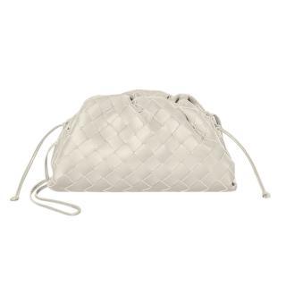 Bottega Veneta Plaster White Intrecciato The Mini Pouch Bag