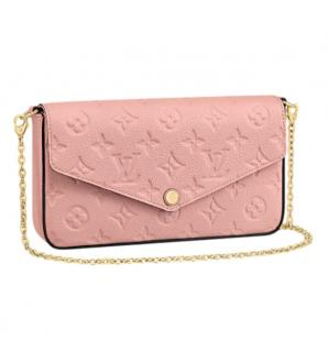Louis Vuitton Monogram Empreinte Rose Poudre Pochette F�licie