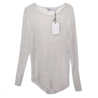 IRO white Mesh Long Sleeve Top