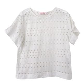 See By Chloe White Embroidered Cotton Top
