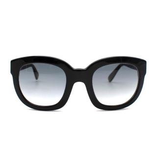 Emanuelle Khanh Black Sunglasses