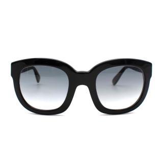 Emanuelle Khanh Black Sunglasses