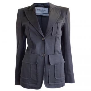 Yves Saint Laurent Vintage Black Tailored Longline Jacket