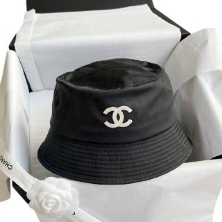 Chanel Black Small Logo Bucket Hat