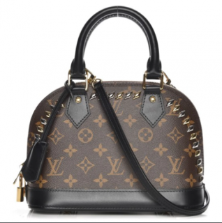 Louis Vuitton Alma Monogram Macassar Studded BB Brown/Black