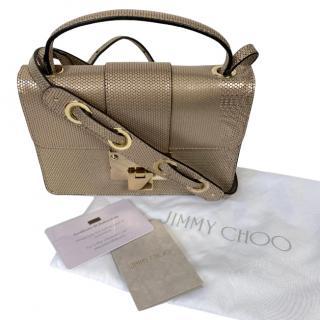 Jimmy Choo Champagne Leather Rebel Crossbody Bag