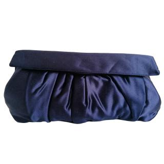 Miu Miu Navy Blue Satin Clutch