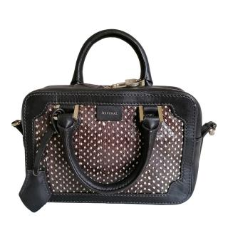 Aspinal Leather/Snake Embossed Mini Crossbody Bag