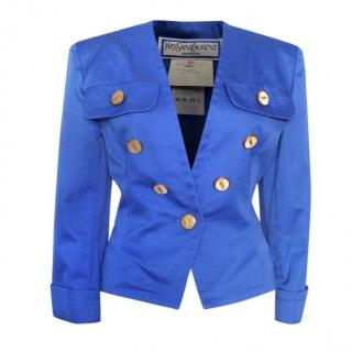 Yves Saint Laurent Vintage Blue Tailored Jacket