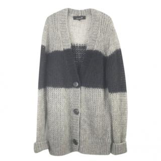 Isabel Marant Etoile Mohair Blend Grey/Black Cardigan