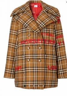 Burberry oversized Horseferry print padded pea coat
