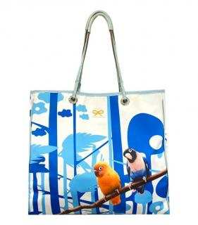 Anya Hindmarch bird print tote bag