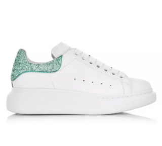 Alexander McQueen White/Turquoise Oversize Sneakers