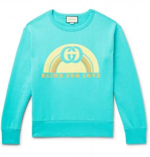 Gucci Turquoise Blind For Love Sweatshirt