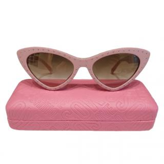 Moschino Pale Pink Cat-Eye Sunglasses