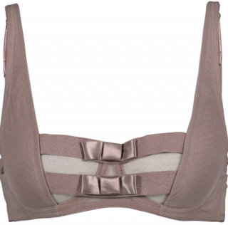 Chantal Thomass Padded Double Bow Plunge Bra