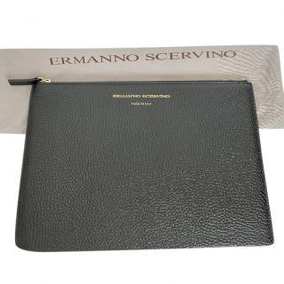Ermanno Scervino Black Leather Pouch