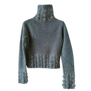 Christian Dior grey wool blend pullover