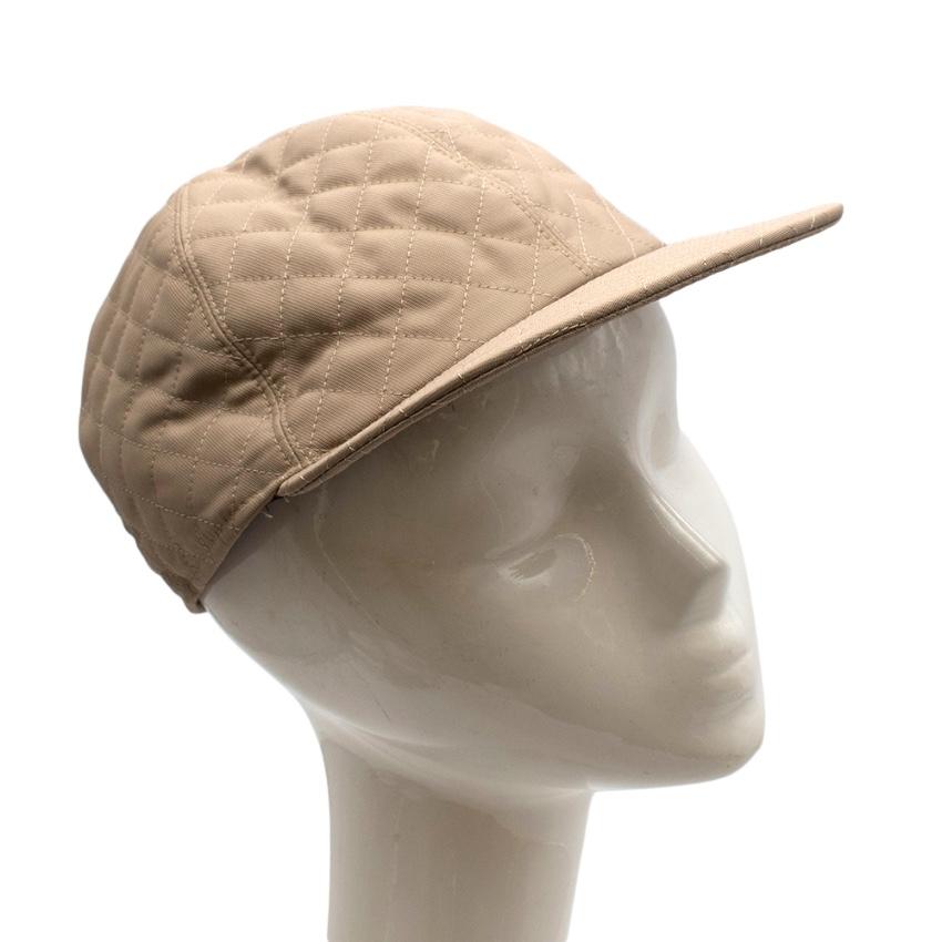 Bates Beige Cotton Blend Quilted Cap
