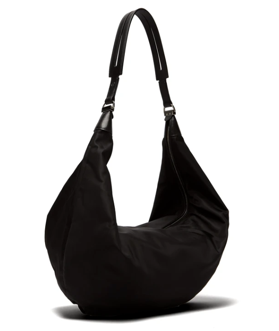 The Row Sling leather-trimmed nylon cross-body bag