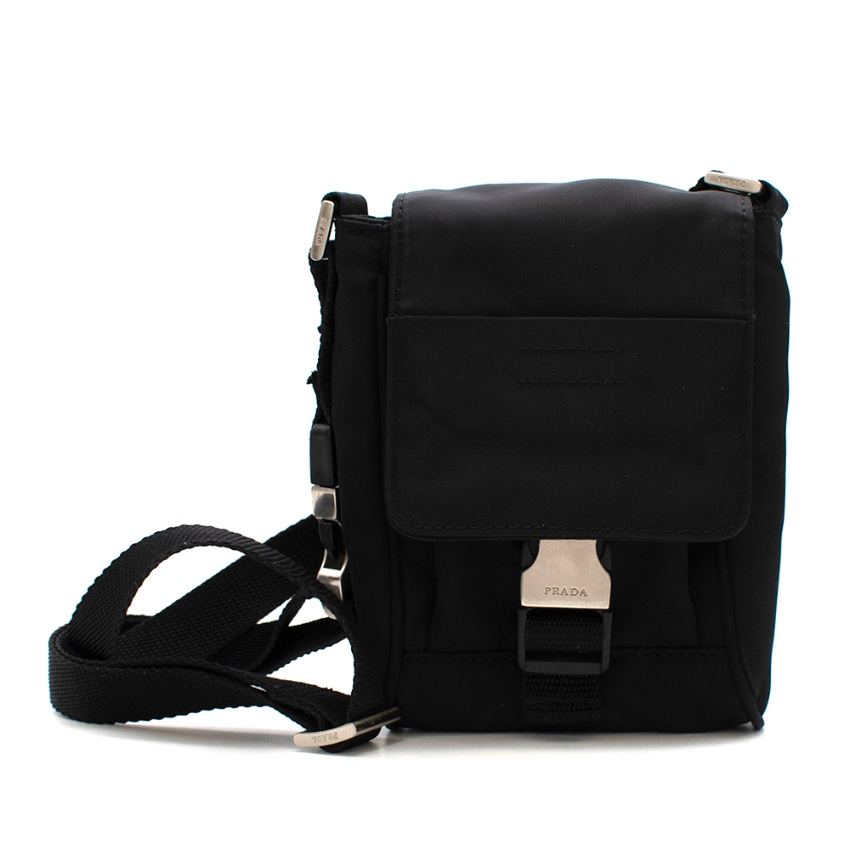 Prada Black Nylon Smartphone Mini Crossbody Bag