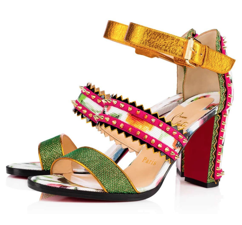 Christian Louboutin Montezumina 36.5 EU  Multi Patent Mosaique Sandals