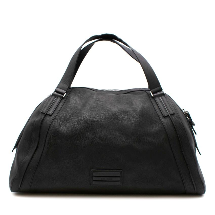 Dior Homme Black Leather Weekender
