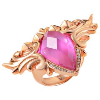 Stephen Webster Rose Gold-Plated Baroque Superstud Ring
