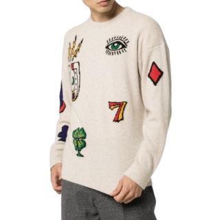 The Elder Statesman patch intarsia cashmere sweater