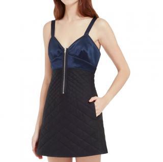 Mulberry Black/Navy Zip-Front Loretta Dress