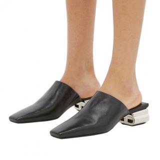 Balenciaga Black BB Typo Mules