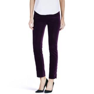Victoria Beckham Purple Velvet Pants