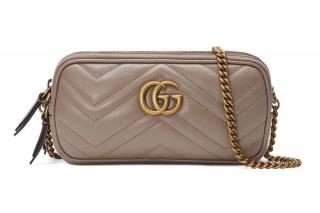 Gucci Marmont Mini Chain Bag in Dusty Pink