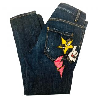 Dsquared2 Cool Girl Patches Cropped Jeans