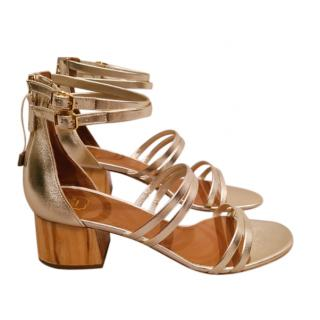 Malone Souliers Platinum Elyse Strappy Sandals