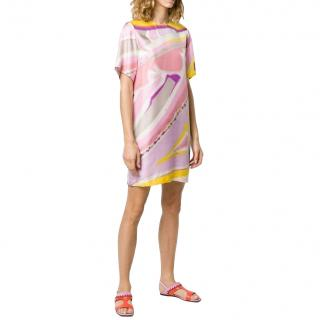 Emilio Pucci Pastel Printed Silk Shift Dress