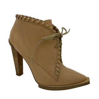Alexander Wang Braided Lace-Up Wooden Heel Ankle Boots