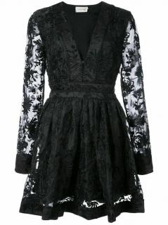 Zimmermann Black Embroidered Mini Dress