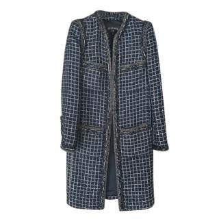 Chanel pre fall 2015 tweed longline coat