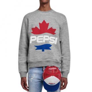 DSquared2 Grey Pepsi Logo Sweatshirt