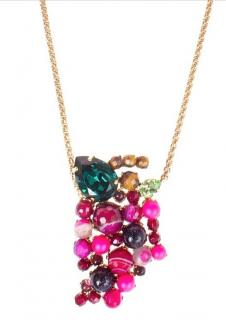 Bijoux De Familie Crystal Embellished Fruit Necklace