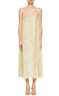 Dries Van Noten Delax V-neck Floral-print Dress With Crystal Straps