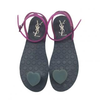Yves Saint Laurent Vintage Heart Thong Sandals