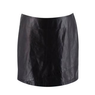 Reed Krakoff Black Leather Mini Skirt