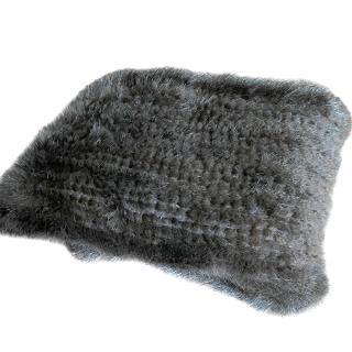 Joseph Brown Knit Mink Fur Long Scarf