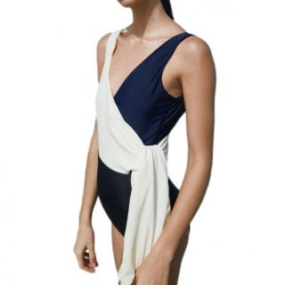 Paper London Colourblock One-Shoulder Copacabana Swimsuit