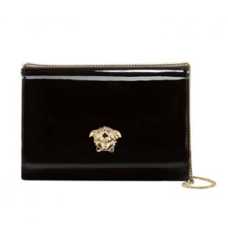 Versace Black Patent Leather Palazzo Crossbody Bag