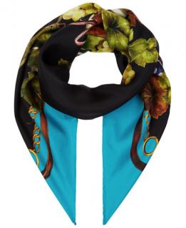 Dolce & Gabbana Blue Grapes Print Cashmere Blend