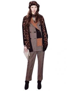 Sonia Rykiel Black/Leopard Print Woo Cardigan