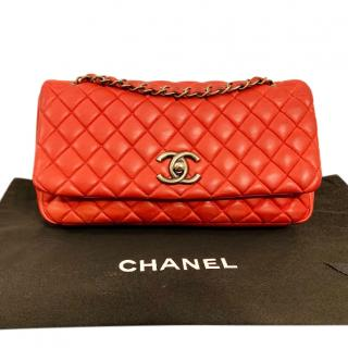 Chanel Red Limited Edition Bubble Flap Bag